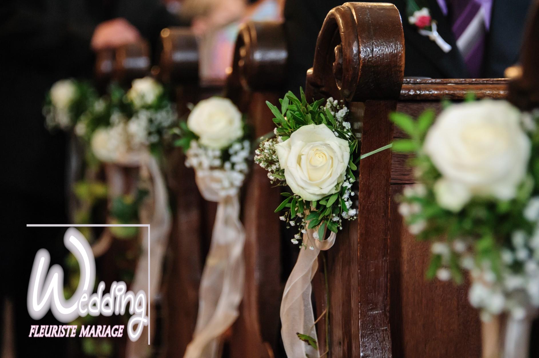 DÉCORATION FLORALE MARIAGE EGLISE DE ROQUEFORT LES PINS - WEDDING FLEURISTE MARIAGE ROQUEFORT LES PINS