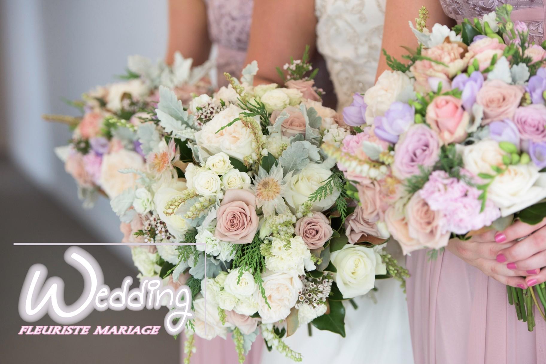BOUQUETS DEMOISELLE D'HONNEUR CARROS - WEDDING FLEURISTE MARIAGE CARROS