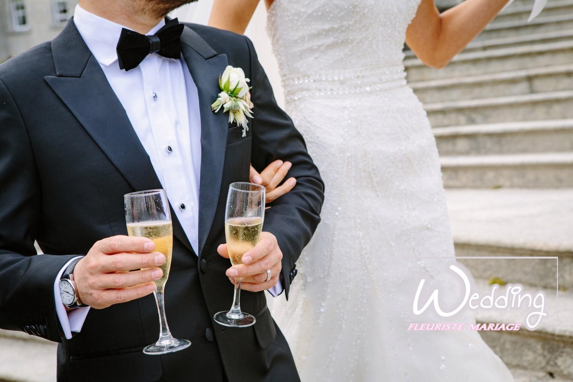 BOUTONNIÈRE DU MARIÉ ROQUEFORT LES PINS - WEDDING FLEURISTE MARIAGE ROQUEFORT LES PINS