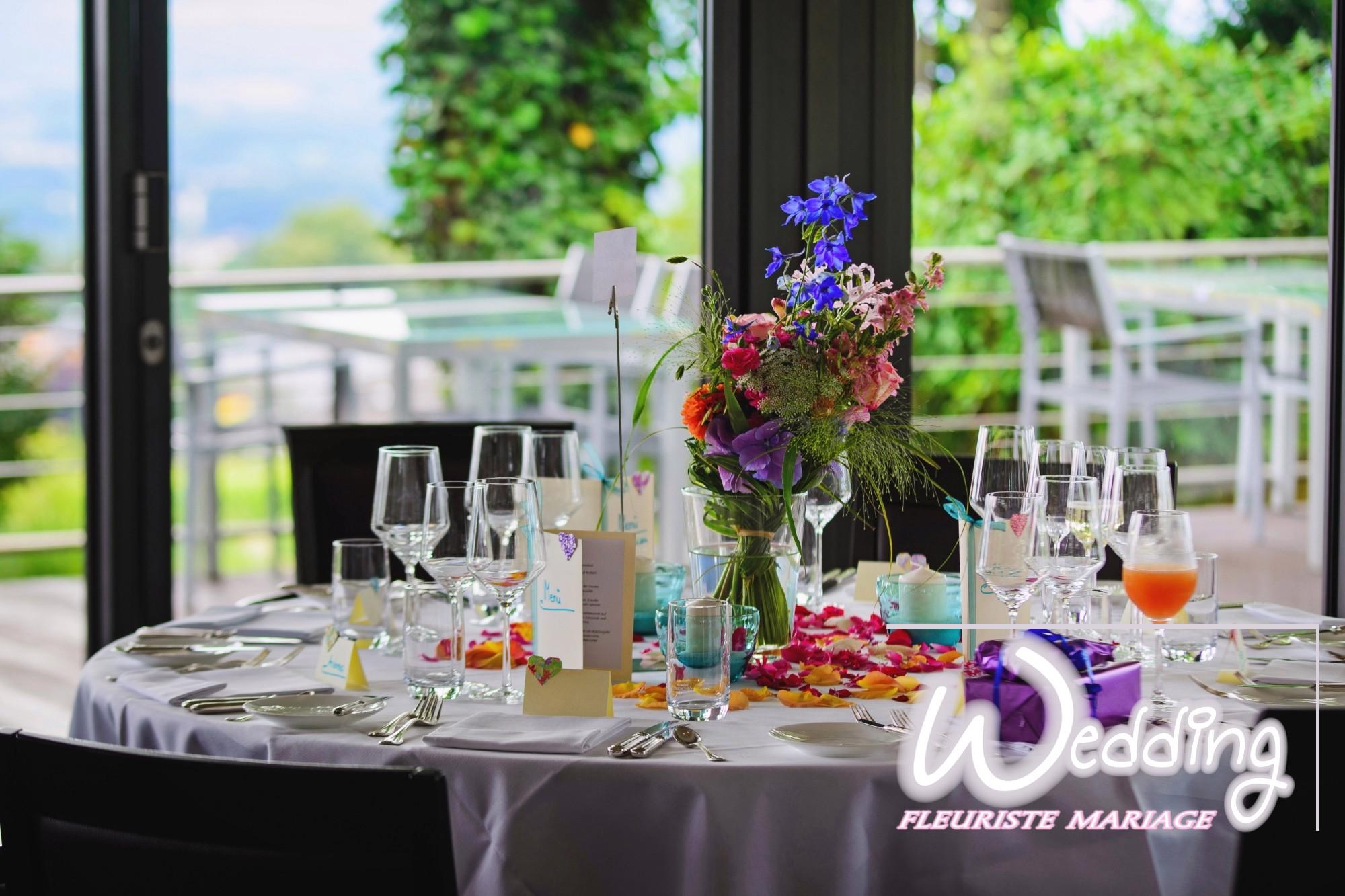 DÉCORATION FLORALE DE VOTRE SALLE POUR MARIAGE champetre